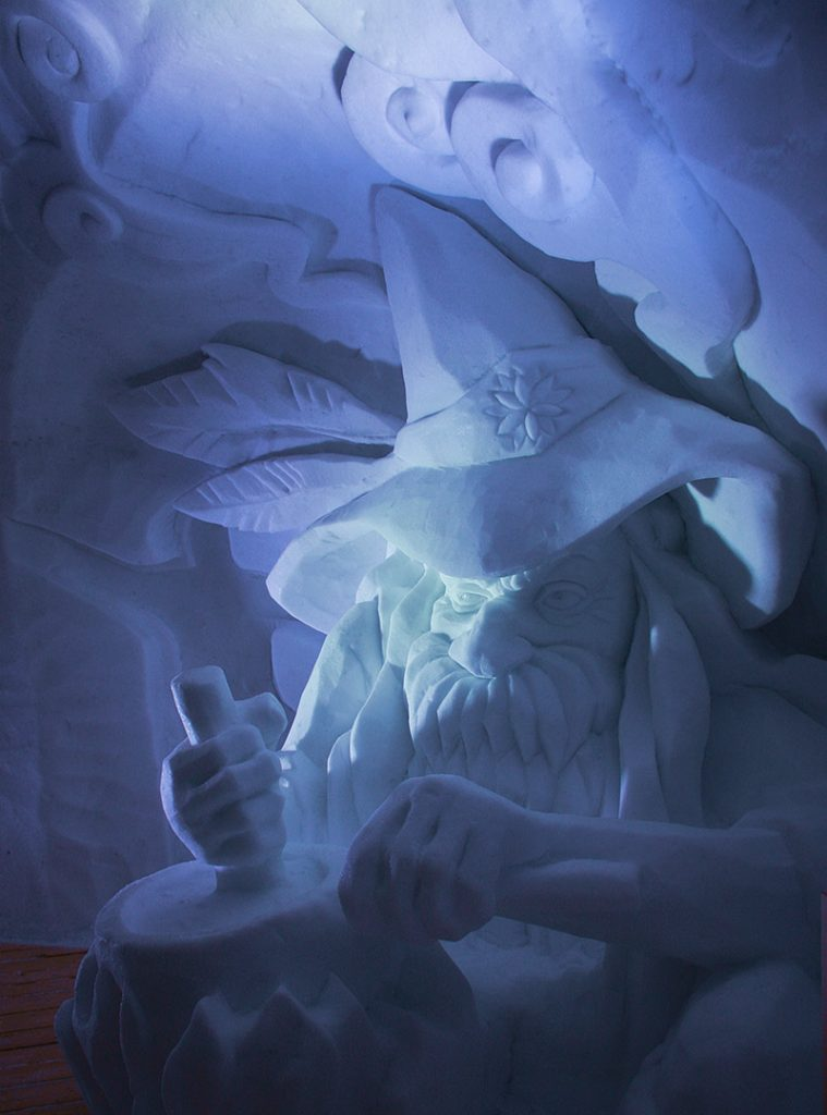 Das Alte Kasermandl Snow Sculpture