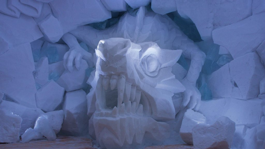 Dragoon Snow and Ice Sculpture